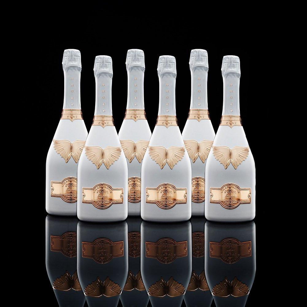 Case of 6 Angel NV Rosé Champagne 750ml